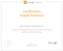 certification google analytics bertrand masselot